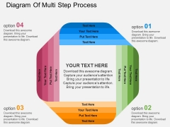 Diagram Of Multi Step Process Powerpoint Templates