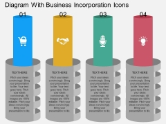 Diagram With Business Incorporation Icons Powerpoint Template