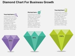 Diamond Chart For Business Growth Powerpoint Templates