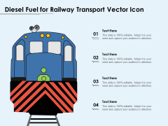 Diesel Fuel For Railway Transport Vector Icon Ppt PowerPoint Presentation Infographic Template Structure PDF