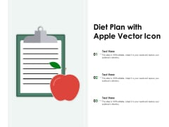 Diet Plan With Apple Vector Icon Ppt PowerPoint Presentation Infographics Graphics Design