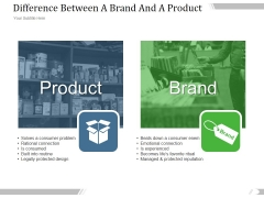 Difference Between A Brand And A Product Ppt PowerPoint Presentation Deck