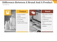 Difference Between A Brand And A Product Ppt PowerPoint Presentation Inspiration