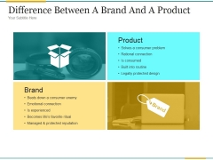 Difference Between A Brand And A Product Ppt PowerPoint Presentation Styles