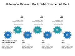 Difference Between Bank Debt Commercial Debt Ppt PowerPoint Presentation Ideas Graphics Tutorials Cpb