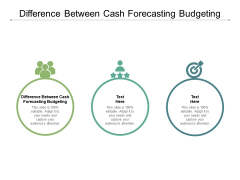 Difference Between Cash Forecasting Budgeting Ppt PowerPoint Presentation Slides Styles Cpb