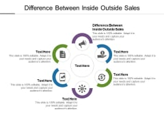 Difference Between Inside Outside Sales Ppt PowerPoint Presentation Inspiration Clipart Images Cpb