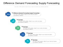 Difference Demand Forecasting Supply Forecasting Ppt PowerPoint Presentation Layouts Infographic Template Cpb