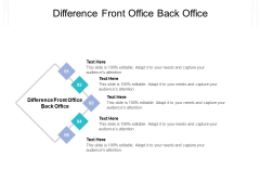 Difference Front Office Back Office Ppt PowerPoint Presentation Layouts Infographics Cpb Pdf
