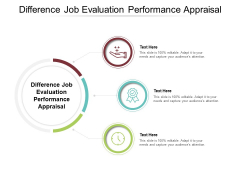 Difference Job Evaluation Performance Appraisal Ppt PowerPoint Presentation Outline Graphic Images Cpb Pdf