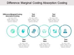 Difference Marginal Costing Absorption Costing Ppt PowerPoint Presentation Infographics Influencers Cpb