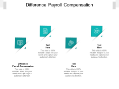 Difference Payroll Compensation Ppt PowerPoint Presentation Model Example Introduction Cpb Pdf