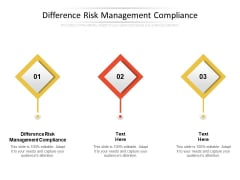 Difference Risk Management Compliance Ppt PowerPoint Presentation Background Images Cpb