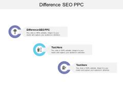 Difference SEO PPC Ppt PowerPoint Presentation Portfolio Slide Cpb