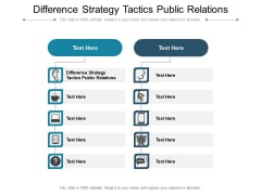 Difference Strategy Tactics Public Relations Ppt PowerPoint Presentation Professional Graphics Template Cpb Pdf