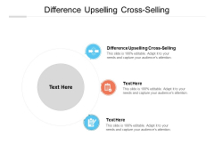 Difference Upselling Cross Selling Ppt PowerPoint Presentation Model Elements Cpb