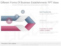 Different Forms Of Business Establishments Ppt Ideas