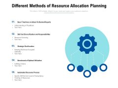 Different Methods Of Resource Allocation Planning Ppt PowerPoint Presentation File Gridlines PDF
