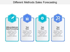 Different Methods Sales Forecasting Ppt PowerPoint Presentation Professional Designs Download Cpb