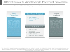 Different Routes To Market Example Powerpoint Presentation