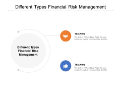 Different Types Financial Risk Management Ppt PowerPoint Presentation Show Gridlines Cpb