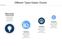 Different Types Kaizen Events Ppt PowerPoint Presentation Gallery Brochure Cpb