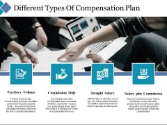 Different Types Of Compensation Plan Ppt PowerPoint Presentation Inspiration Format Ideas