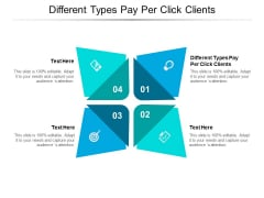 Different Types Pay Per Click Clients Ppt PowerPoint Presentation Gallery Elements Cpb Pdf