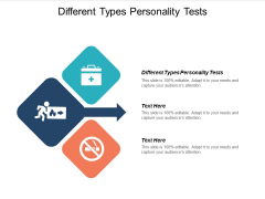 Different Types Personality Tests Ppt PowerPoint Presentation Show Gallery Cpb