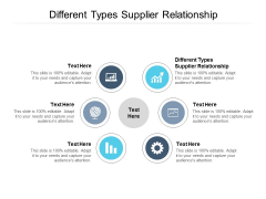 Different Types Supplier Relationship Ppt PowerPoint Presentation Professional Introduction Cpb Pdf