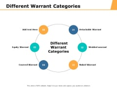 Different Warrant Categories Ppt PowerPoint Presentation Professional Sample