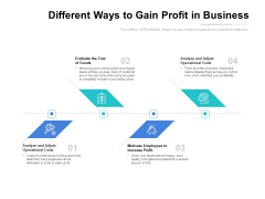 Different Ways To Gain Profit In Business Ppt PowerPoint Presentation Icon Layouts PDF
