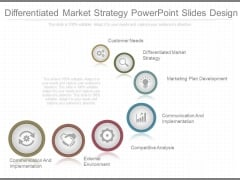 Differentiated Market Strategy Powerpoint Slides Design