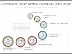 Differentiated Market Strategy Powerpoint Slides Design
