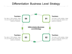 Differentiation Business Level Strategy Ppt PowerPoint Presentation Layouts Summary Cpb Pdf
