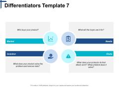 Differentiators Solution Market Ppt PowerPoint Presentation Pictures Layout Ideas