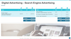 Digital Advertising Search Engine Advertising Ppt Professional Visual Aids PDF