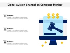 Digital Auction Channel On Computer Monitor Ppt PowerPoint Presentation Ideas PDF