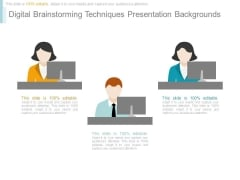 Digital Brainstorming Techniques Presentation Backgrounds