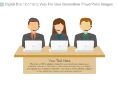 Digital Brainstorming Way For Idea Generation Powerpoint Images