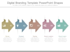 Digital Branding Template Powerpoint Shapes