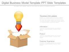 Digital Business Model Template Ppt Slide Templates