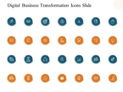 Digital Business Transformation Icons Slide Ppt PowerPoint Presentation Layouts Maker