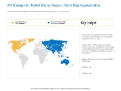 Digital Businesses Ecosystems API Management Market Size By Region World Map Representation Formats PDF