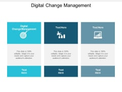 Digital Change Management Ppt PowerPoint Presentation Infographics Brochure Cpb