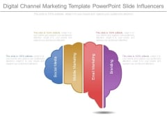 Digital Channel Marketing Template Powerpoint Slide Influencers