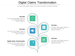 Digital Claims Transformation Ppt PowerPoint Presentation Icon Infographic Template Cpb Pdf