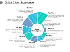 Digital Client Experience Ppt PowerPoint Presentation Model Slides Cpb Pdf