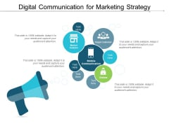 Digital Communication For Marketing Strategy Ppt PowerPoint Presentation File Information