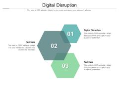 Digital Disruption Ppt PowerPoint Presentation Outline Gridlines Cpb Pdf